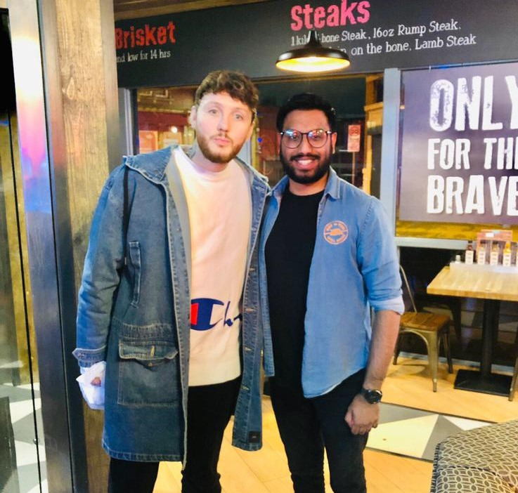 James Arthur was in the (Grill) House